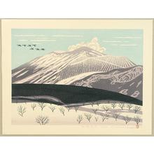 小野忠重: After Snow at Mt Asama - Japanese Art Open Database