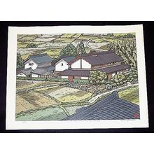 Nishijima Katsuyuki: Unknown farmhouse village - Japanese Art Open Database