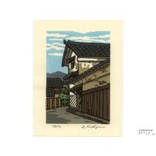 Nishijima Katsuyuki: Village scene - Japanese Art Open Database