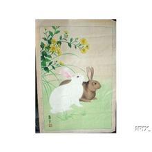 Nishimura Hodo: Two Rabbits- 1 - Japanese Art Open Database