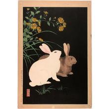 Nishimura Hodo: Two Rabbits- 2 - Japanese Art Open Database