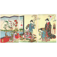 Watanabe Nobukazu: Flower Arrangement - Japanese Art Open Database