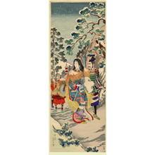 Watanabe Nobukazu: A princess and her guard - Japanese Art Open Database