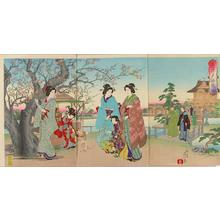 渡辺延一: Crouching dragon plum at Kameido Shrine — 亀井戸臥龍梅 - Japanese Art Open Database