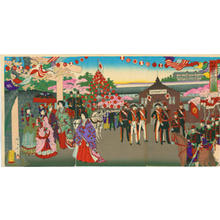 渡辺延一: Emperor at Ueno - Japanese Art Open Database