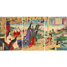 渡辺延一: Ono Komachi- Scene of Poetry — 小野小町詠歌之図 - Japanese Art Open Database