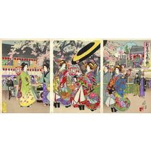 渡辺延一: Flourishing Shin Yoshiwara — 新吉原全盛の賑ひ - Japanese Art Open Database