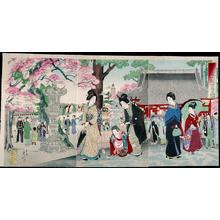 Watanabe Nobukazu: Asaskusa Kinryuzan Kanzeon Temple — 浅草金龍山観世音圖 - Japanese Art Open Database