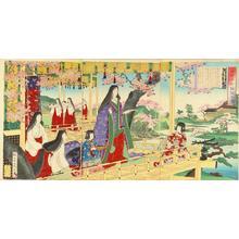 渡辺延一: Ono Komachi- Scene of Poetry — 小野小町詠歌之図 - Japanese Art Open Database