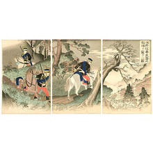 渡辺延一: Scouting Enemy Camp at Fengtianfu - Japanese Art Open Database