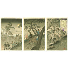 渡辺延一: Scouting near Port Arthur - Japanese Art Open Database