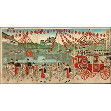 渡辺延一: Silver Wedding Anniversary State Ceremony — 銀婚大典之御儀式 - Japanese Art Open Database
