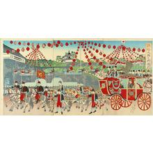 渡辺延一: Silver Wedding Anniversary State Ceremony — 銀婚大典之御儀式 - Japanese Art Open Database