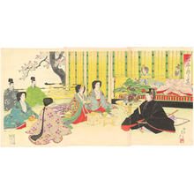 渡辺延一: The betrothal of Prince Yoshihito, son of Emperor Meiji - Japanese Art Open Database