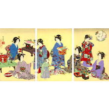 渡辺延一: Young Women Relaxing - Japanese Art Open Database