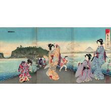 Watanabe Nobukazu: View of Enoshima Island — 江ノ島の図 - Japanese Art Open Database