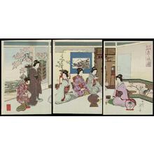 Watanabe Nobukazu: View of a Tea Ceremony — Cha no Yu no Zu - Japanese Art Open Database