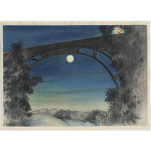 Obata Chiura: Full Moon, Pasadena, California - Japanese Art Open Database