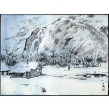 Obata Chiura: Sierra Cabin in the Snow - Japanese Art Open Database