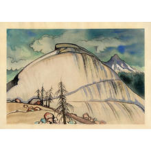 Obata Chiura: Death Grave's Pass and Tenaya Peak - Japanese Art Open Database