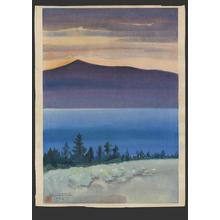 Obata Chiura: Evening Glow, Mono Lake - Japanese Art Open Database
