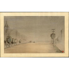 Obata Chiura: Foggy Morning, Van Ness Avenue (San Francisco) - Japanese Art Open Database
