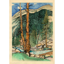 Obata Chiura: Upper Lyell Fork, near Lyell Glacier - Japanese Art Open Database