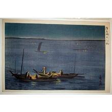 Oda Hironobu: Fishing Boat At Night - Japanese Art Open Database