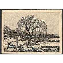 Oda Kazuma: Shinobazu Pond in snow - Japanese Art Open Database