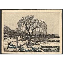 Oda Kazuma: Shinobazu Pond in snow - Japanese Art Open Database