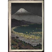 Okada Koichi: Mt. Fuji from Nippon-daira OR Mt. Fuji at Night across the Japanese Plain - Japanese Art Open Database