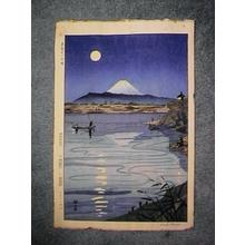Okada Koichi: Unknown, moon over Mt Fuji - Japanese Art Open Database