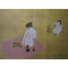 Okamoto Yoshimi: White Fox Flowery Fields - Japanese Art Open Database