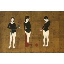 Okamoto Yoshimi: White Fox Sisters - Japanese Art Open Database
