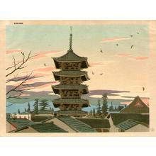 Okumura Koichi: Pagoda of Toji Temple - Winter - Japanese Art Open Database
