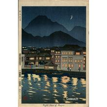 Okumura Koichi: Night View of Beppu - Japanese Art Open Database