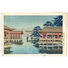 Okumura Koichi: Rain in Miyajima - Japanese Art Open Database