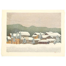 Rome Joshua: Snow Scape - Japanese Art Open Database