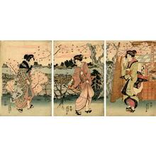 Sadahiro: Three Bijin by the Sumidagawa - Japanese Art Open Database