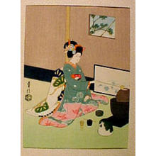 Sadanobu 3 Hasegawa: Maiko Girl, doing Tea Ceremony - Japanese Art Open Database