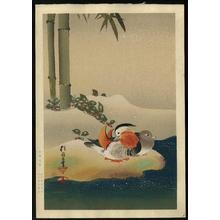 Sakai Koichi: Mandarin Ducks in Snow and Bamboo - Japanese Art Open Database