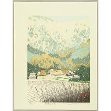Sano Seiji: Mountain Village in Snow - Japanese Art Open Database