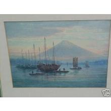 Satsuta Emiko: Mt Fuji and Ships in Bay - Japanese Art Open Database
