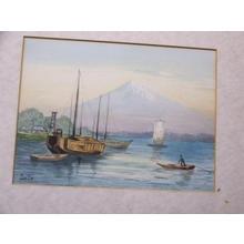 Satta: Junks By Mt Fuji - Japanese Art Open Database