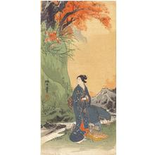 静湖: Bijin in Autumn - Japanese Art Open Database