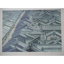 Sekino Junichiro: Snow Scene - Japanese Art Open Database