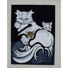 Sekino Junichiro: Unknown, cat and kittens - Japanese Art Open Database