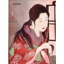 Sengai Igawa: Bijin after a bath - Japanese Art Open Database