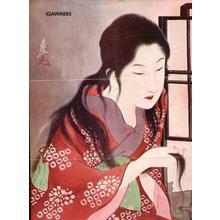 Sengai Igawa: Bijin after a bath - Japanese Art Open Database