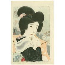 Sengai Igawa: 4- Bijin among flowers - Japanese Art Open Database